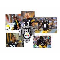 Camisa Steelers Con Firmas 5 Jugadores