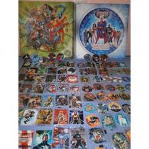 Lote De 245 Tazos Y Spinners De Marvel Y Dc De Sabitas