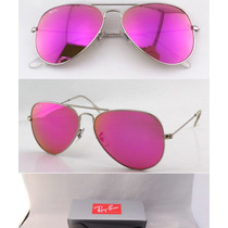 lentes ray ban tornasol rosas