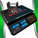 Bascula Digital 40 Kg Mettria Black Envio Gratis