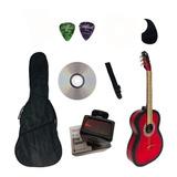 Guitarra Acustica Vz En Paquete Con Afinador Electronico Varios Colores Hecha Artesanal En Paracho Michoacan