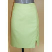 Falda Ejecutiva En Color Verde Talla 30