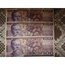 Billete Antiguo 100 Pesos 1982 Carranza Num Serie En Orden