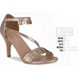 Zapatilla Color Oro 014-14 Cklass