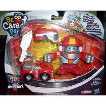 Sr Cara De Papa Transformers Rescue Bots Heatwave Hasbro