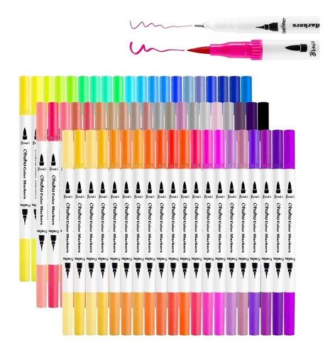 Kit De Marcadores Acuarelables De Doble Punta 60 Colores