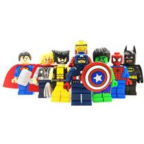 Super Heroes Batman Hulk Ironman Araña Compatible Con Lego