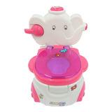 Bañito Elefante Entrenador Para Bebe Musical Niña Con Dispensador Papel