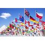 Paquete De 8 Banderas 90x150cm Del Mundo, Previo Acuerdo