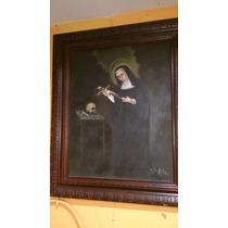 Pintura Religiosa Tipo Antigua Sobre Oleo