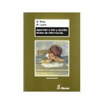 Libro Aprender A Leer Y Escribir Textos De Informaciën *cj