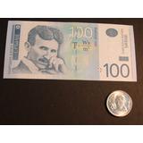 Billete Y Moneda Con Nicola Tesla