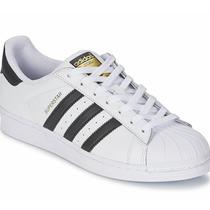 Adidas Superstar Fundation Gold Bota Choclo Blanco Negro