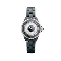 Damas Cincel Negro Reloj De Cerámica 3 Atm Resistente Al Ag