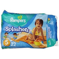 Pampers Splashers Desechable Swim Pants Tamaño 5 22 Count (e