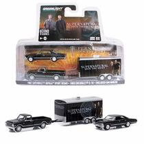 Greenlight Supernatural Impala Chevy C10 Y Remolque 3pz