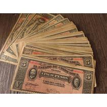 Billete Chihuahua 5 Y 10 Pesos 1914 Par De Billetes