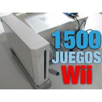 Nintendo Wii Con Disco Duro +1500 Juegos 2 Controles Promo