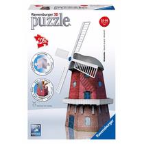 Rompecabezas Puzzle 3d Ravensburger Molino De Viento 12563
