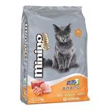 Alimento Minino Plus Para Gato Adulto Sabor Carne/pollo/pavo En Bolsa De 10kg