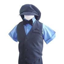 Classykidzshop Niño / Del Niño / Boy Negro Azul Marino Traje