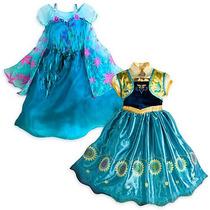 Disfraz Frozen Original De Disney Talla 6 Años (2 Vestidos)
