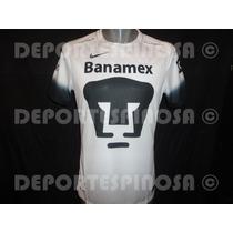 Jersey Pumas 2016 Nike Blanco Negro Version Jugador