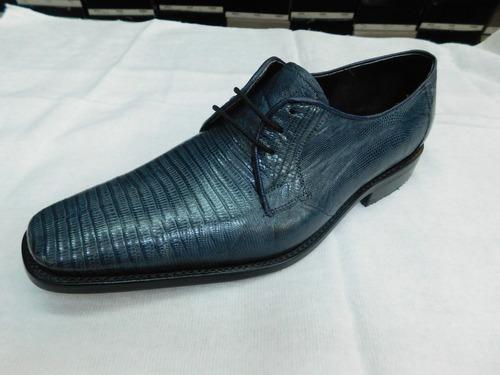 Calzado Exotico De Armadillo Azul Gris Con Cinto d67ca7a9bf643