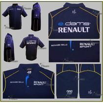 Playera Polo E. Dams Renault Formula Electrica Genuina Prost