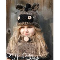 Gorro Y Cuello Niña Estambre Crochet Bu Importados Usa!!