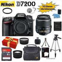 Camara Nikon D7200 Lente 18-55mm Vrii Ed + 12 Acc. + Regalo