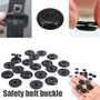 Clip Grapa Tope Cinturon De Seguridad Universal Negro/beige