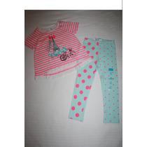~the Children Conj Blusa Paris Y Leggings Bolitas Talla T 3