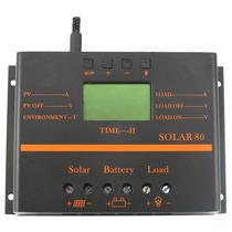 Controlador De Carga Solar 80a 12/24v Pantalla Lcd