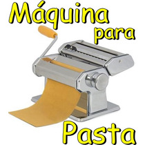 Maquina Para Pasta Casera Acero Cromado