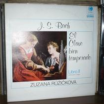 El Clave Bien Temperado Libro 2 Lp Bach Zuzana Ruzickova