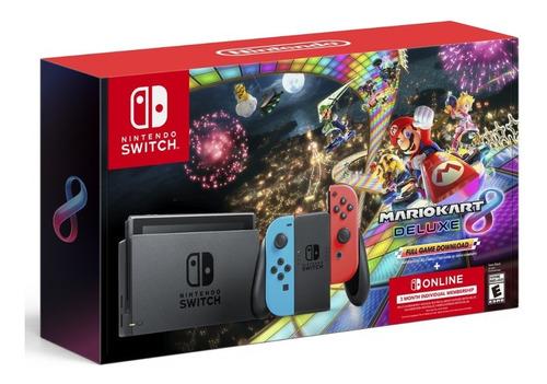 Nintendo Switch Neon + Mariokart 8 + 3 Meses Nintendo Online