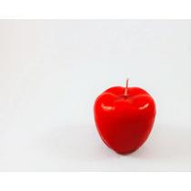 Vela En Forma De Manzana Miniatura (5cm X 5cm) X Pieza
