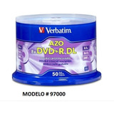 Dvd+r Dl Doble Capa Verbatim 8.5 Gb 8x Logo 50 Pzas # 97000