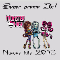 Kit Imprimible Monster High Cumple+candy+imagenes+ Fondos