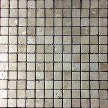 Malla Mosaico Tapete Marmol Travertino Beige 1x1