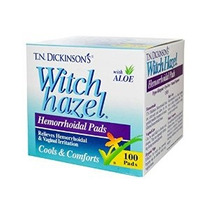 Hemorroidales Medicados Almohadillas Con Hamamelis - 100 Ea
