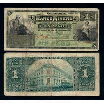 Billete Chihuahua Banco Minero 1 Peso 24.4.1914 (f) S162
