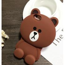 Funda Oso Iphone 6 6s Osito Tedy Silicon Protector 3d Cafe