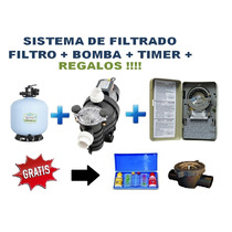 Sistema Kit Filtrado Albercas Piscinas Bomba Filtro +timer