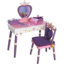 Peinador Tocador Princesas Para Niñas Caja Musical Vbf