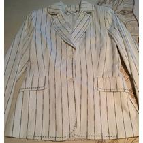 Elegante Saco Para Dama Mango Talla 28(7) Blanco/negro