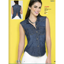 Blusa De Mezclilla Ala Moda Elegante-casual Fashion Sexy