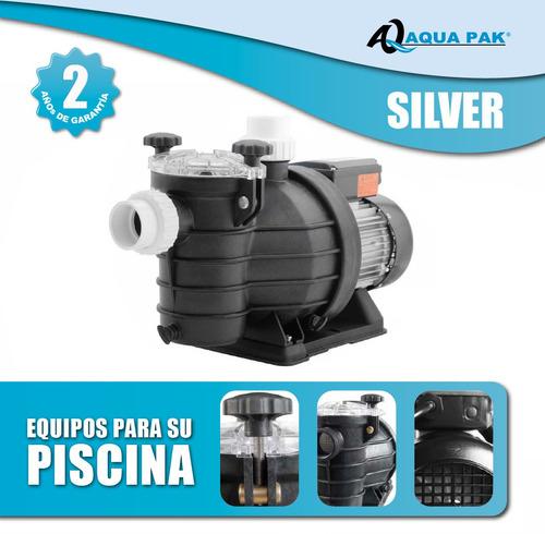 Bomba para piscinas silver 1 hp valvula gratis oferta for Bombas autoaspirantes para piscinas