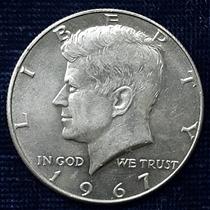 Tres Monedas Kennedy Half Dollar 1967,1968 Y 1969 Plata